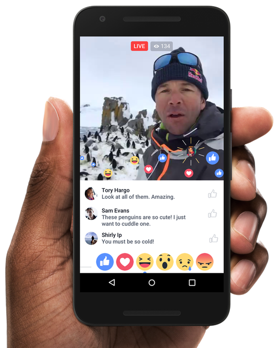 reacciones facebook live