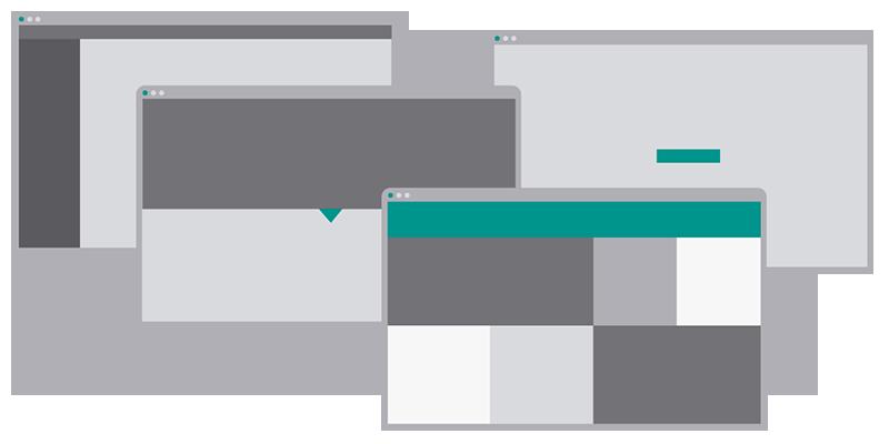 Patrones UI navegacion web responsive usabilidad