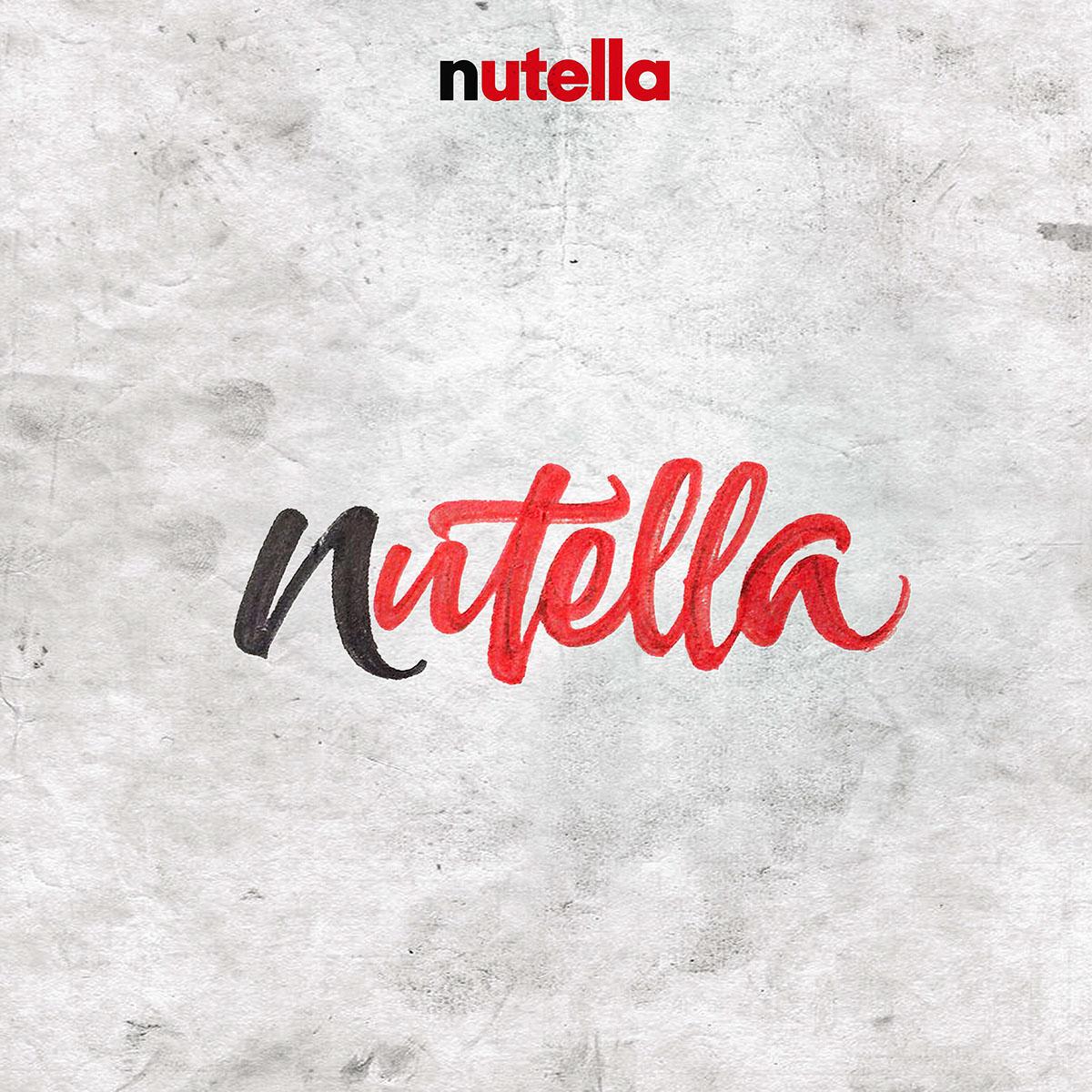 lettering diseño nutella gráfico design