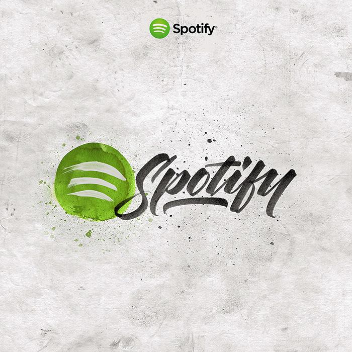 lettering diseño spotify gráfico design