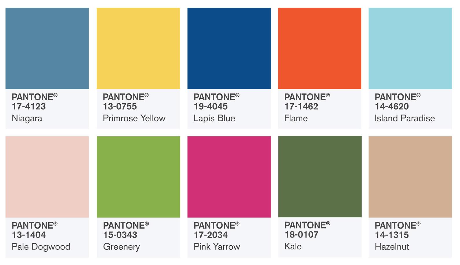 pantone colores primavera 2017