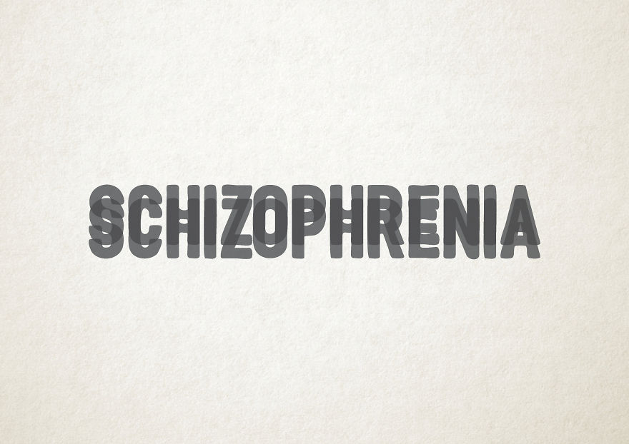 tipografía diseño gráfico trastornos mentales