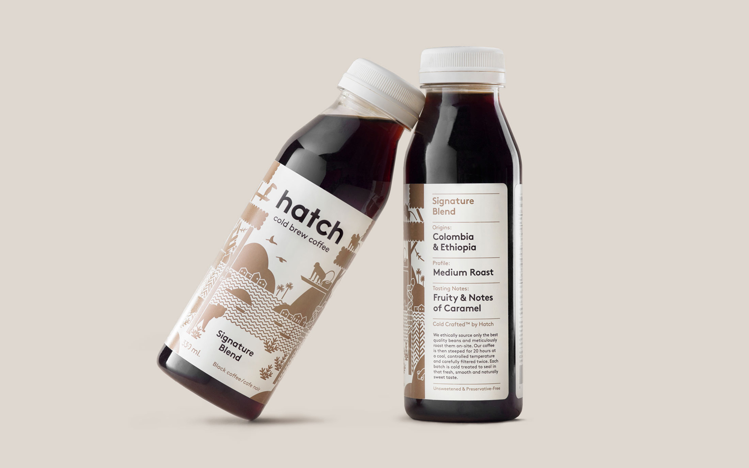 Hatch Cold Brew Coffee, diseño gráfico café