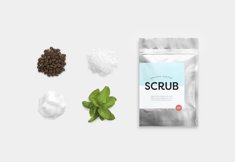 exfoliante de café, packaging café, diseño gráfico café