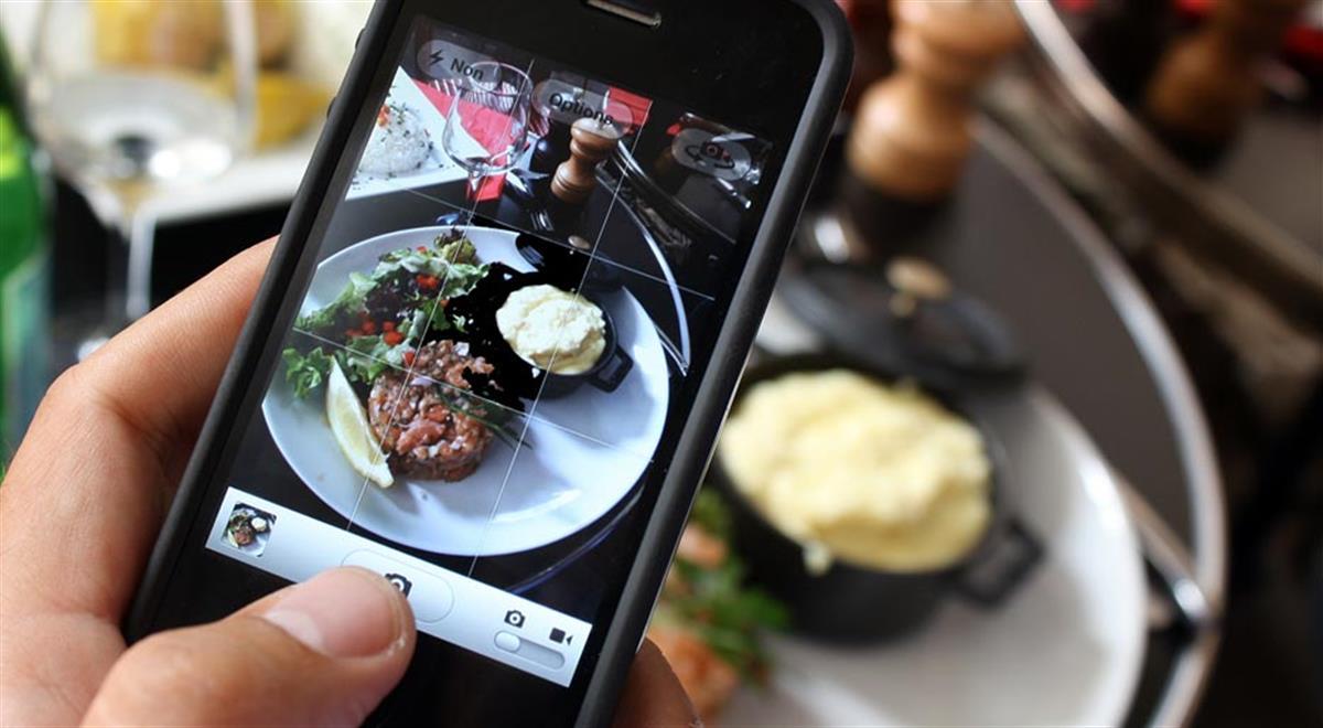 Comida movil redes sociales