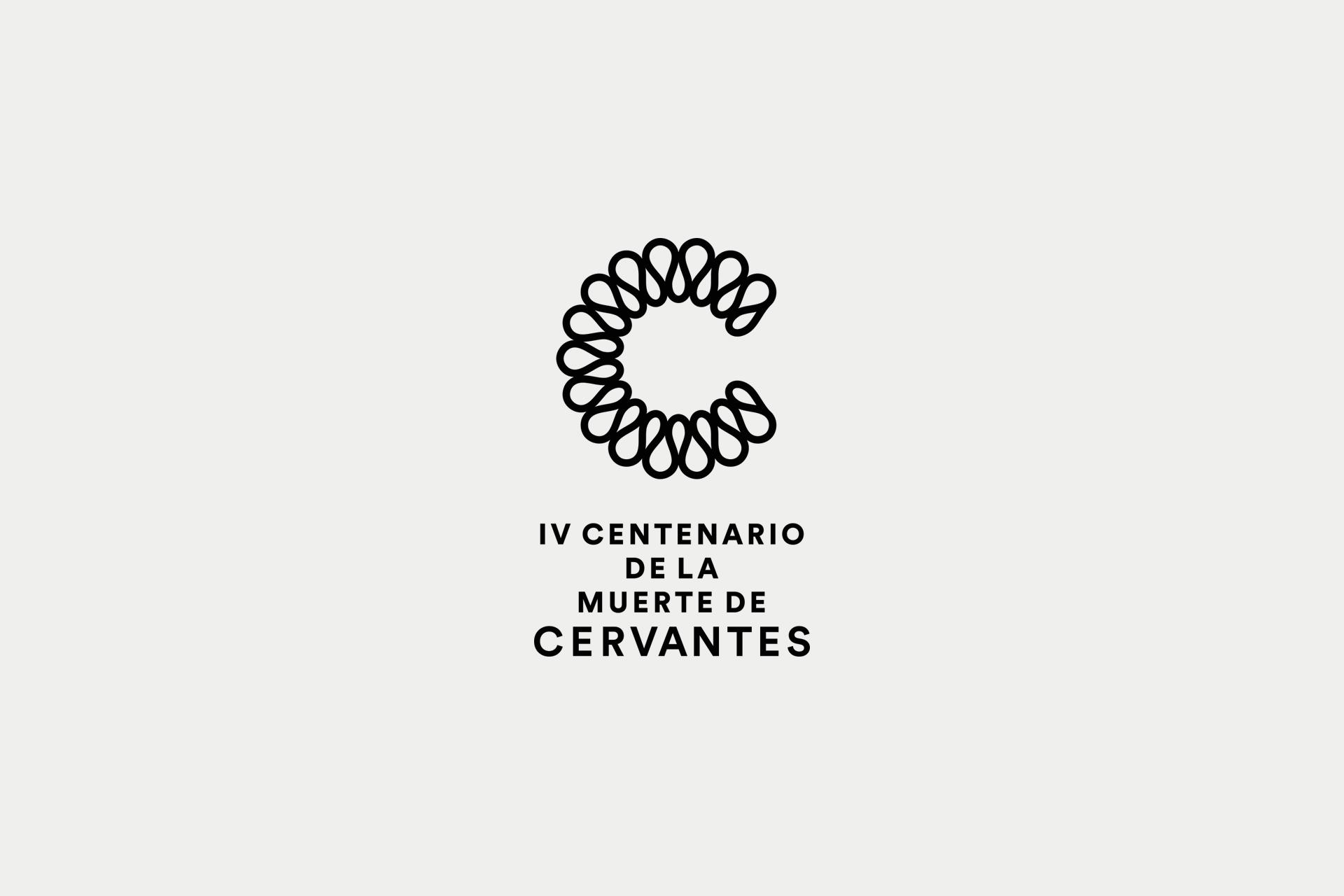 identidad visual corporativa Cervantes centenario diseño gráfico