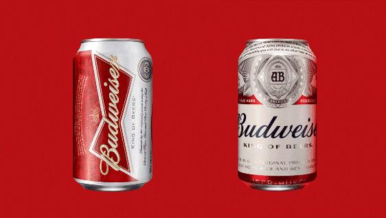 budweiser rediseño logo packaging identidad visual
