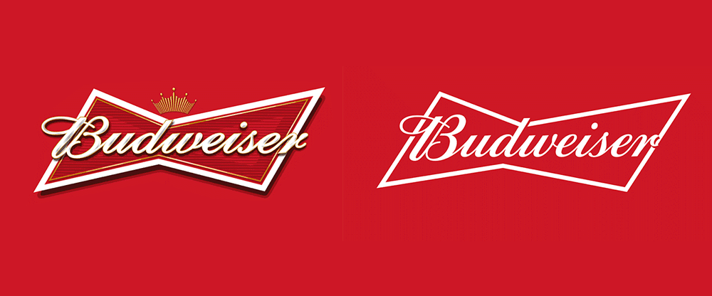 budweiser rediseño nuevo logo identidad visual