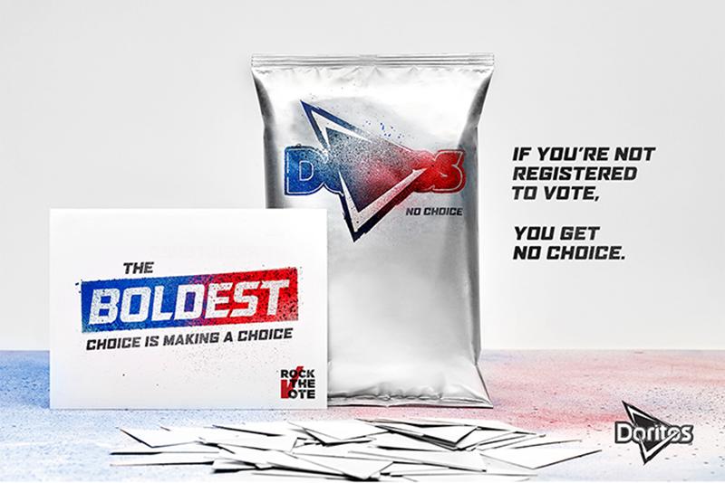 campaña de marketing, doritos, elecciones EEUU, marketing social