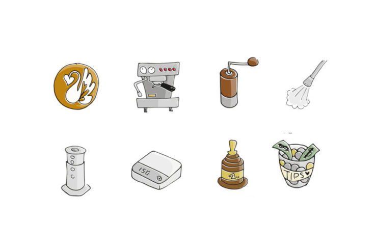 emoticonos de café, emojis de café, emoticonos
