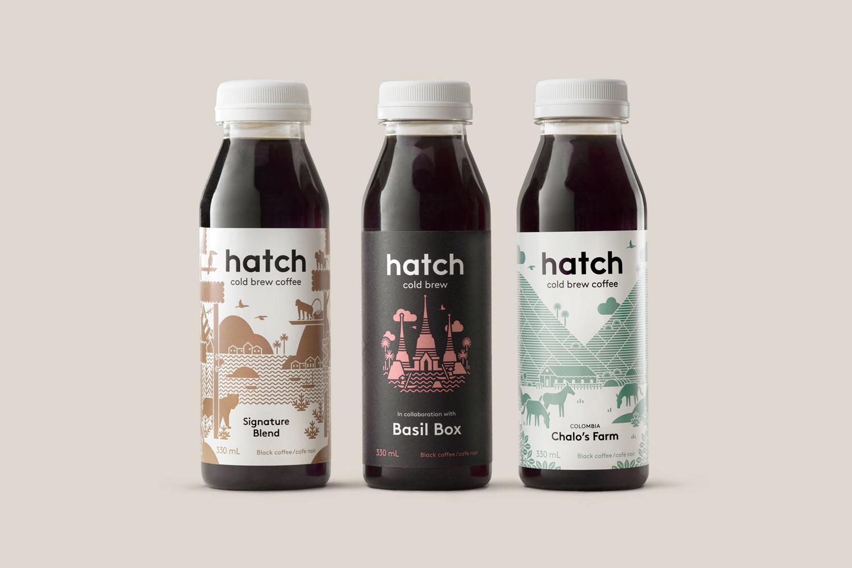 Hatch Cold Brew Coffee, diseño gráfico café
