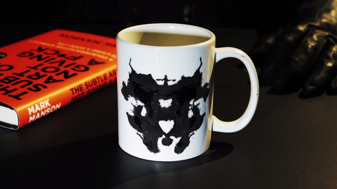 test de rorschach, taza de café, diseño café