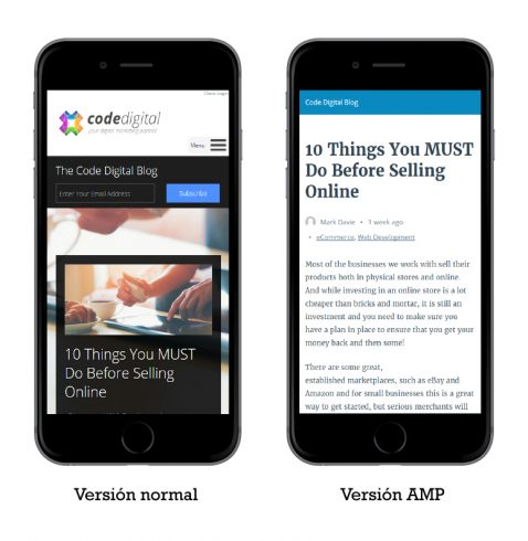 accelerated mobile pages, amp, seo para móviles
