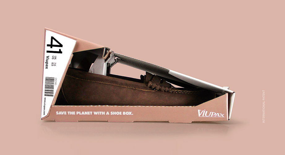 packaging sostenible, packaging de zapatos, packaging creativo